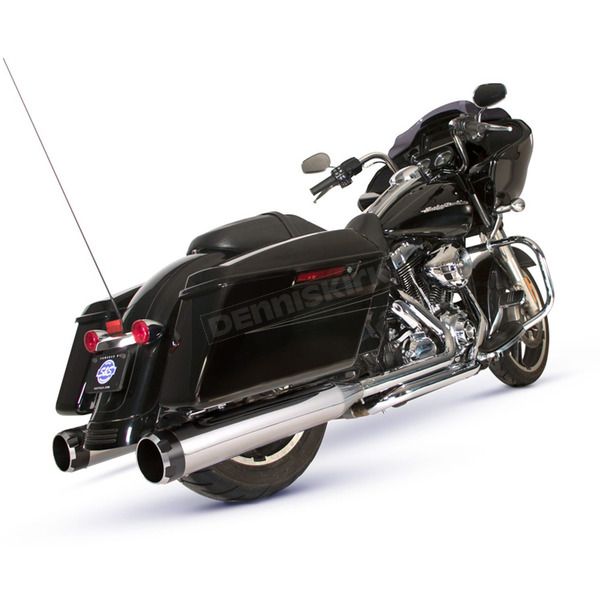 Chrome/Black El Dorado-MK45 Muffler/Header Package w/Thruster End Caps - 550-0677A