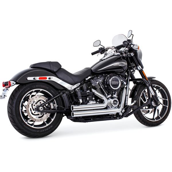 Chrome Independence Shorty  Exhaust - HD00732