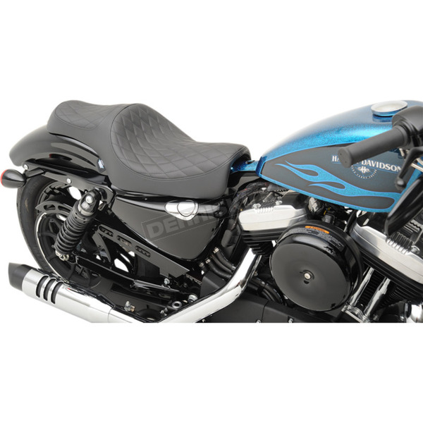 Drag Specialties Black Diamond Stitch 2-Up Caballero Seat - 0804-0669