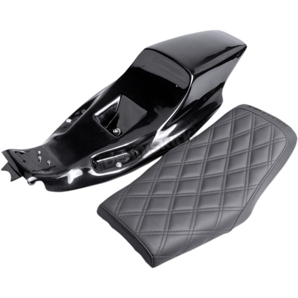Saddlemen Black Eliminator Tail Section and Lattice Stitch Seat Kit  - Z4281