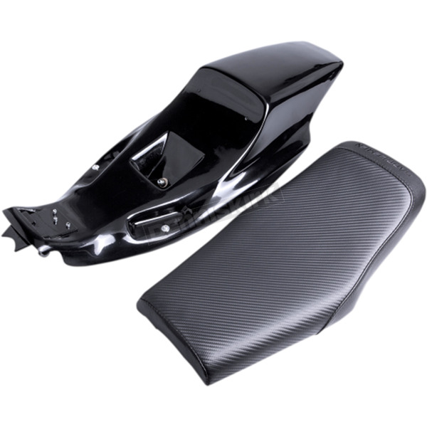 Saddlemen Black Eliminator Tail Section and Carbon Fiber Seat Kit  - Z4282