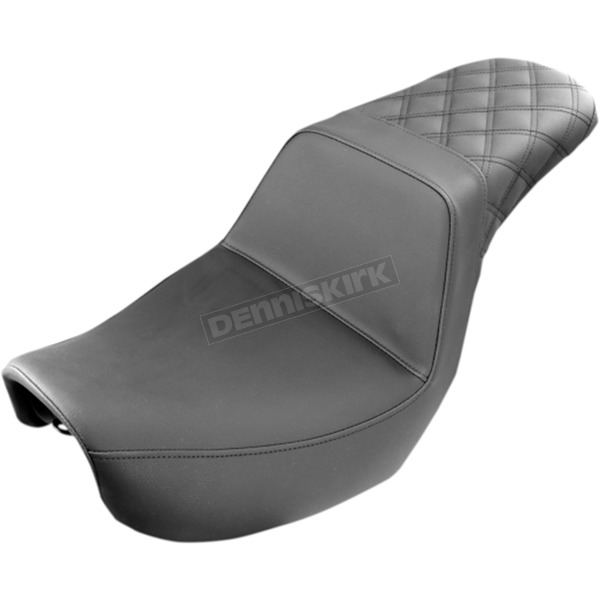 Saddlemen Black Lattice-Stitch Step-Up Seat - 806-04-173