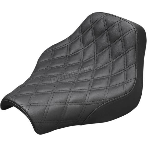 Saddlemen Black Renegade Lattice Stitch Solo Seat - 818-30-002LS