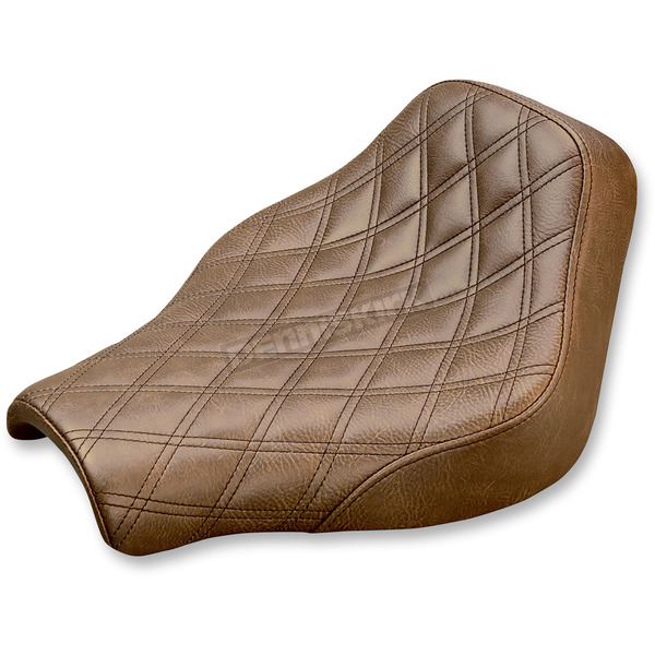 Saddlemen Brown Renegade Lattice Stitch Solo Seat - 818-30-002BLS