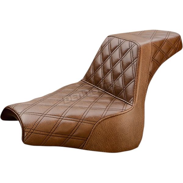 Saddlemen Brown LS-Step-up Seat w/Lattice Stitch - 818-28-175BR