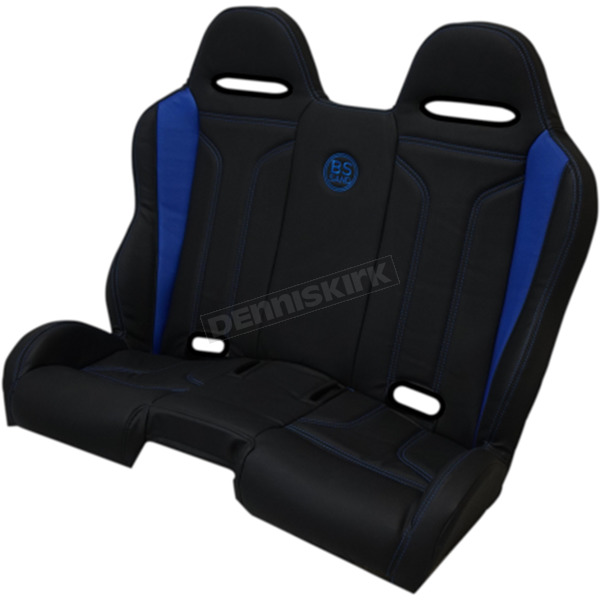ROR Brands Black/Blue double T Stitch Performance Bench Seat - PEBEBLDTR