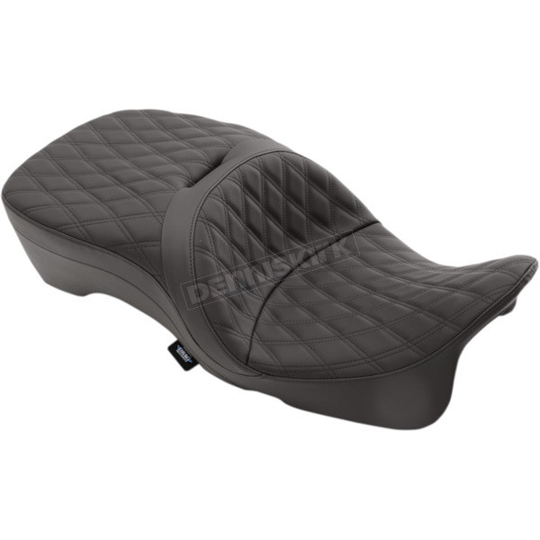 Double Diamond Stitch Forward Positioning Large Touring Seat (Approx. 2