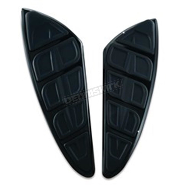 Kuryakyn Gloss Black Knietic Floorboard Inserts w/Toe Rest  - 7619