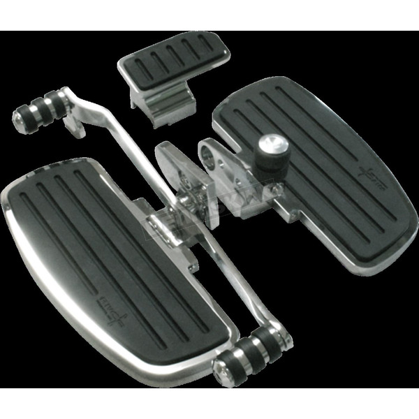 Rivco Chrome Driver Floorboards w/Heel Toe Shifter - GL18020