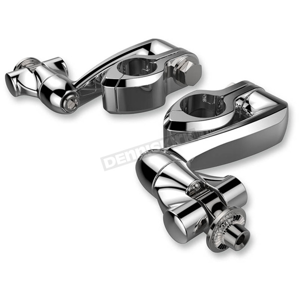 Ciro Chrome Adjustable Highway Peg Mounts w/4 in. Extension, Clevis and Peg Mounts - 60005