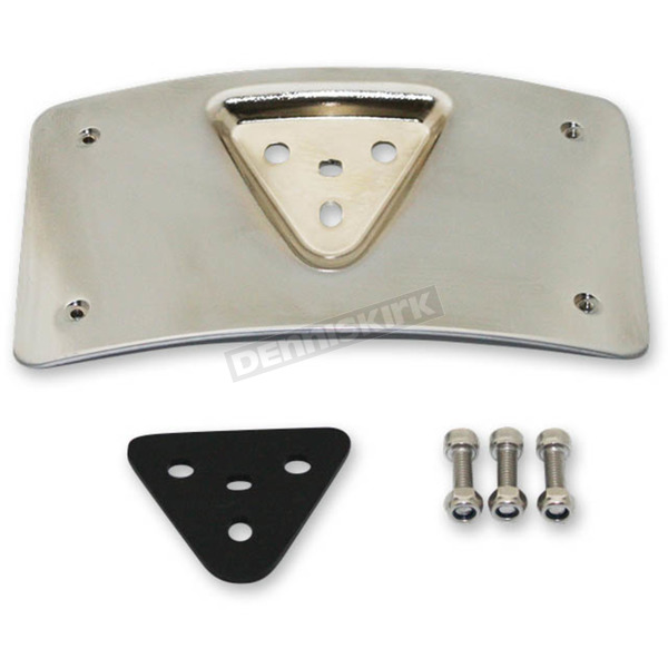 Custom Dynamics Chrome Radius License Plate Mount - CD-PFM-C