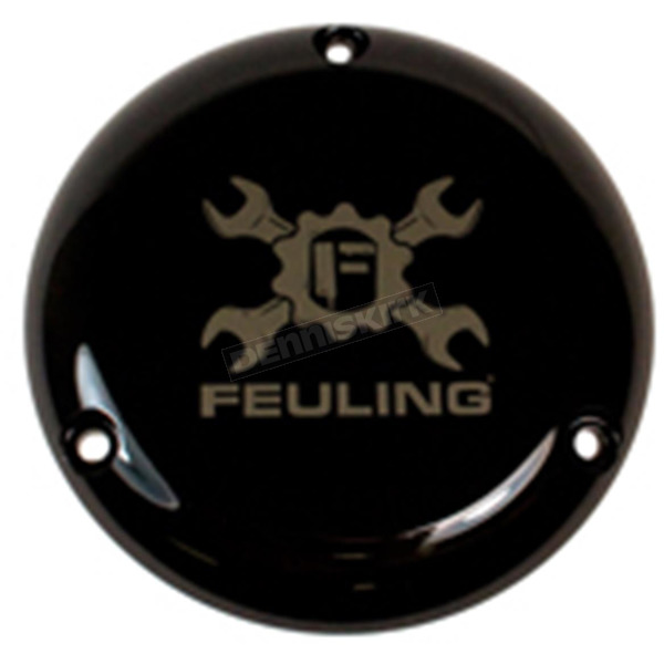 Feuling Motor Company Black Smoked Gear Cross Wrench Primary Derby Cover - 3-Hole - 9158
