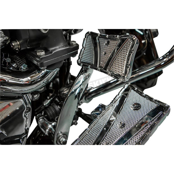 Trask Chrome V-Line Brake Pedal Cover - TM-2071CH