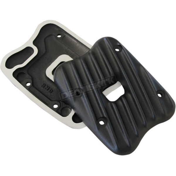 Speed Merchant Black Ribsters Rocker Box Covers - RCXL/R/B