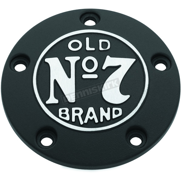 Jack Daniels Black Wrinkle Old No.7 Timing Cover w/Machined Logo - 106-234