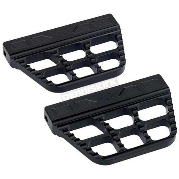 Joker Machine Black Serrated Passenger Floorboards - 08-645-1B