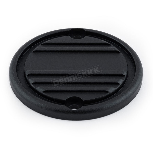 British Customs Black/Textured Partial Finned 900 Clutch Cover - BC805-003-TB