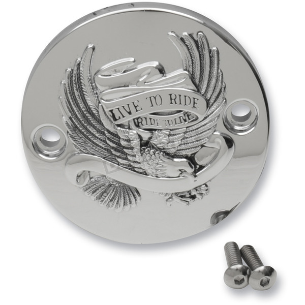 Chrome Live to Ride Eagle Spirit Points Cover - 0940-1645