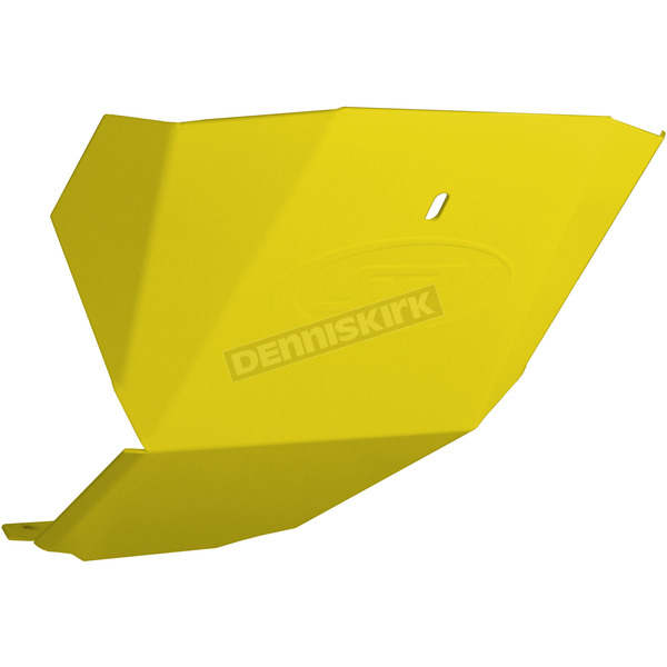 StraightLine Performance Flo Yellow Aluminum Skid Plate - 182-112-FLOYEL