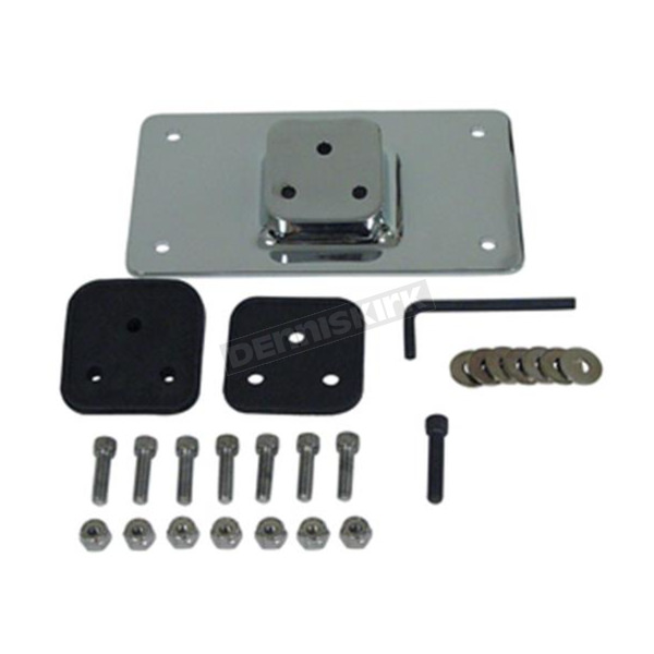 Chrome License Plate Mount and Backing Plate Kit - 13219