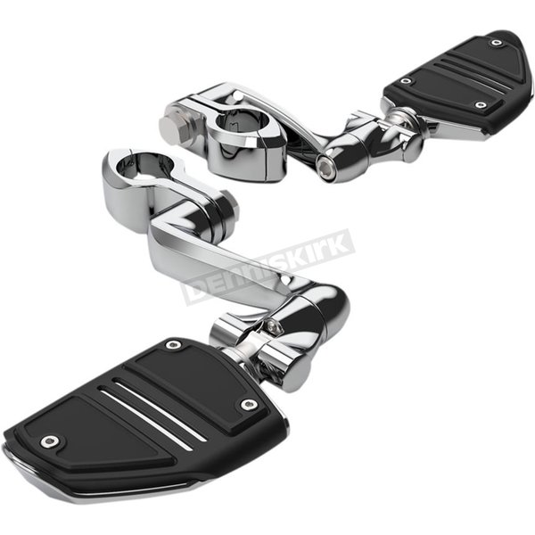 Chrome Engine Guard Highway Peg Mounting Kit Extended w/Twin Rail Footrest - 60505