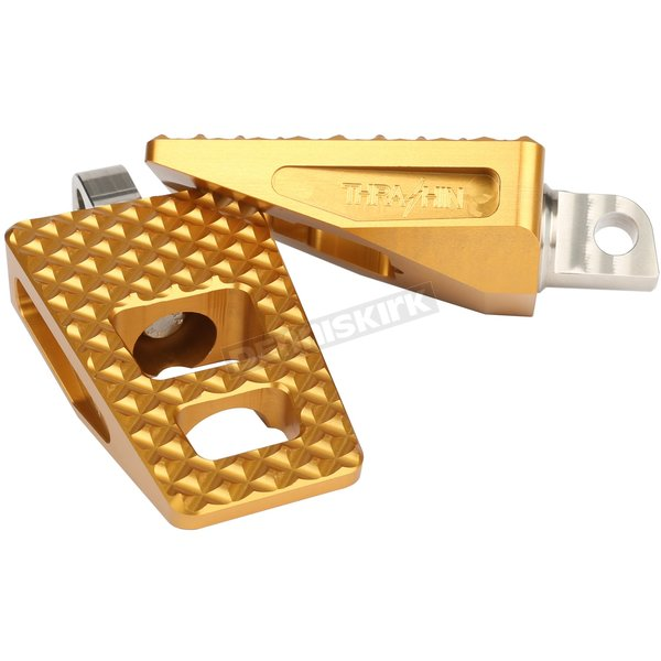 Gold Anodized P-54 Extra Grip Footpegs - TSC-2020-5-SF