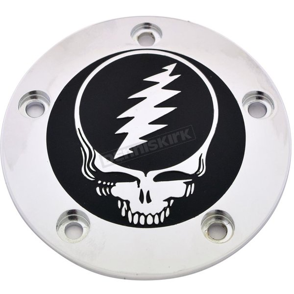 Chrome/Black Grateful Dead Steal Your Face Timing Cover - GD01-04BC
