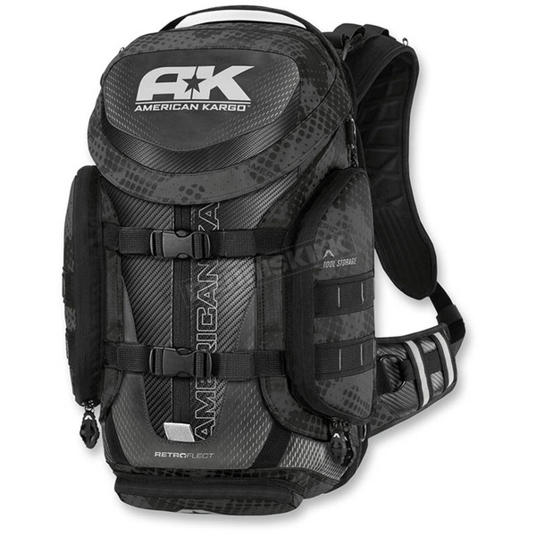 American Kargo Reflective Black Trooper Backpack - 3517-0407