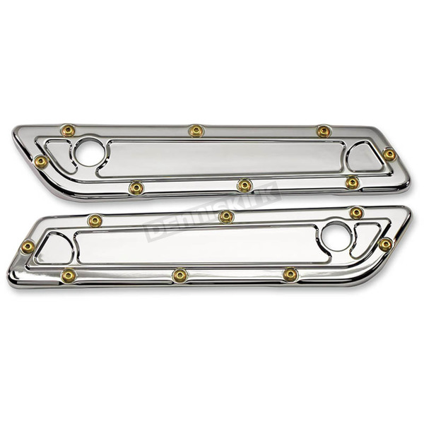 Carl Brouhard Designs Chrome Bomber Series Saddlebag Latch Covers - BBL-002-C