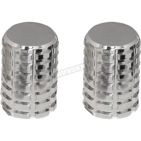 Pro Pad Chrome Long Grenade Cut Magnetic Docking Station Caps - DSC-FP-LC