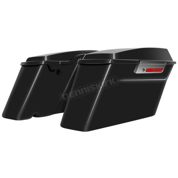 HogWorkz Vivid Black Fully Assembled Standard Saddlebags - HW149508