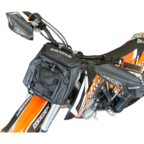 Skinz Snow Bike Front Handlebar/Number Plate Bag for Bikes w/o Headlights - CNPP300-BK