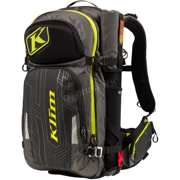 Klim Black/Gray/Lime Krew Pak Backpack - 4012-002-000-330