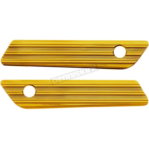 Gold Anodized 10 Gauge Saddlebag Hinge Latch Cover - 03-606