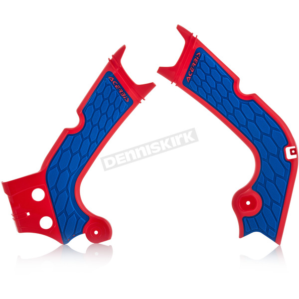 Acerbis Patriot Red/Blue X-Grip Frame Guard - 2630711228