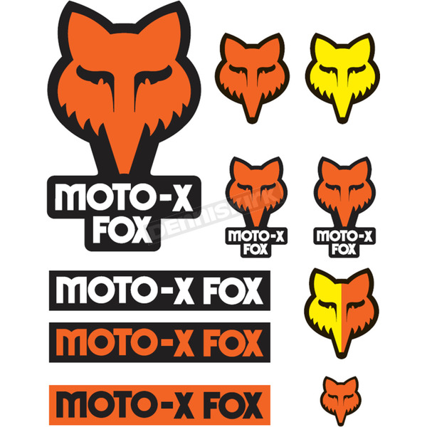 Fox Orange Track Pack Sticker Sheet - 14935-009-NS