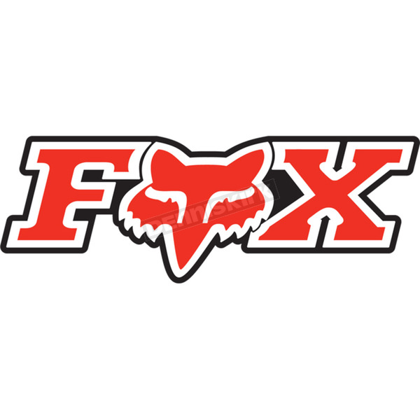 Fox Red 7 in. Corporate Sticker - 14905-003-OS