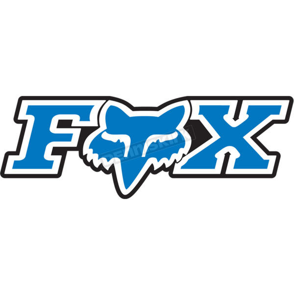 Fox Blue 7 in. Corporate Sticker - 14905-002-OS
