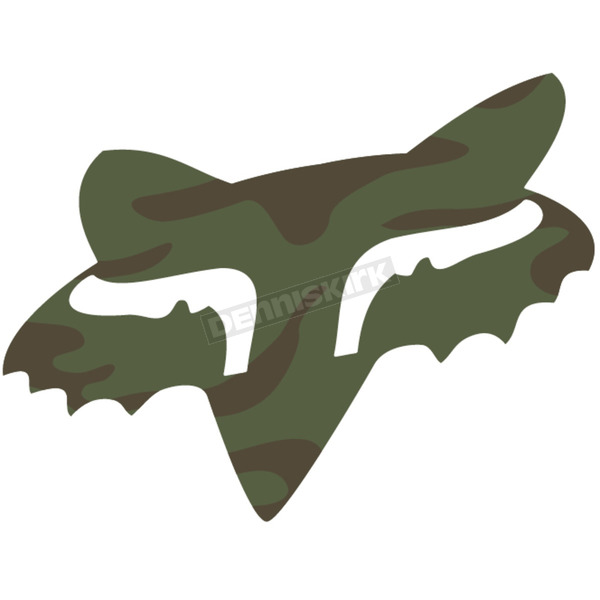 Fox Camo 2.5 in. Fox Head Sticker - 14897-027-OS
