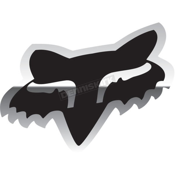 Chrome 4 in. Fox Head Sticker - 14898-010-OS