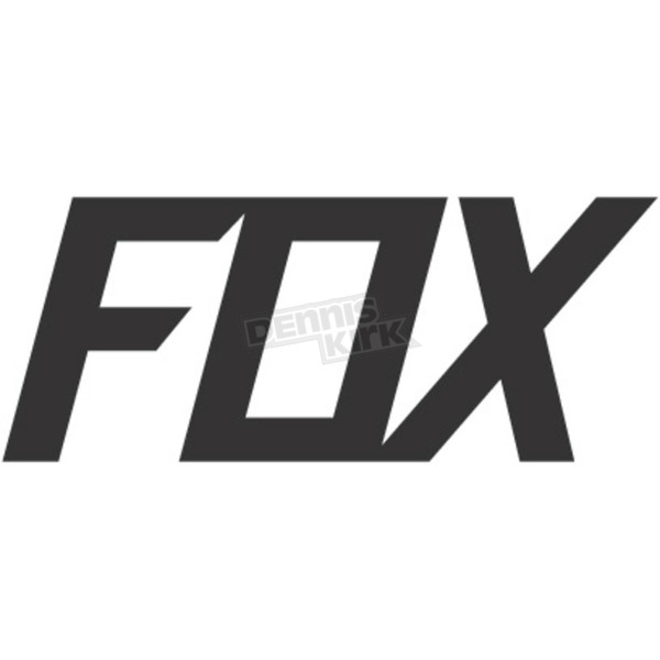 Matte Charcoal 2.75 in. Fox TDC Sticker - 14908-136-OS