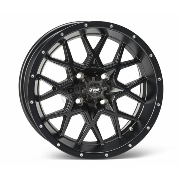 ITP Matte Black Front or Rear 16 x 7 Hurricane Wheel - 1621963017B