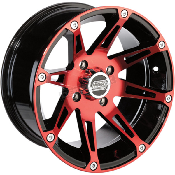 Moose Front Red 387X 12 x 7 Wheel - 0230-0865
