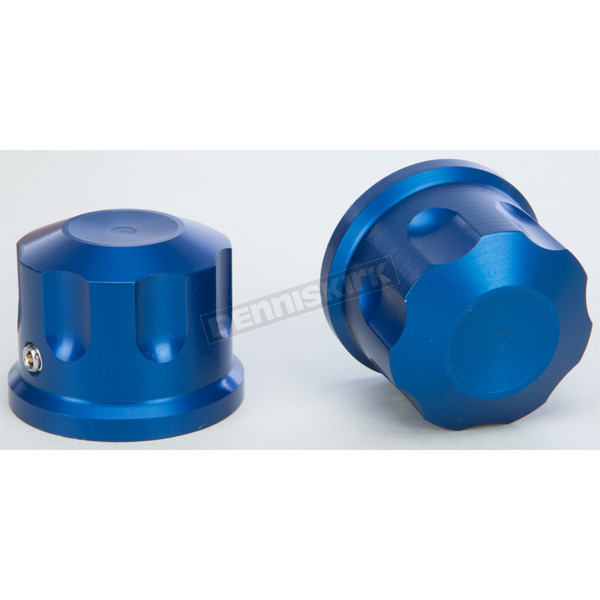 Rooke Customs Blue Front Axle Covers - R-TAC102-T8