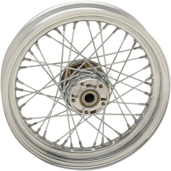 Drag Specialties Chrome Rear 16x3 40-Spoke Laced Wheel (Non-ABS) - 0204-0524