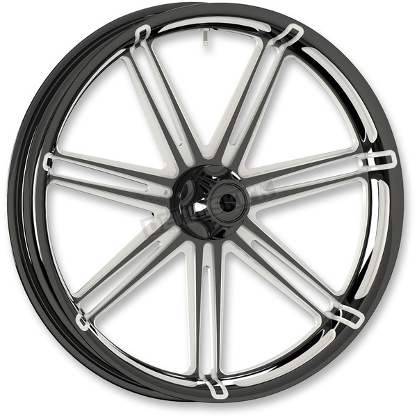 Arlen Ness Black 7 Valve 21x3.5 Forged Aluminum Front Wheel (ABS) - 10301-204-6008