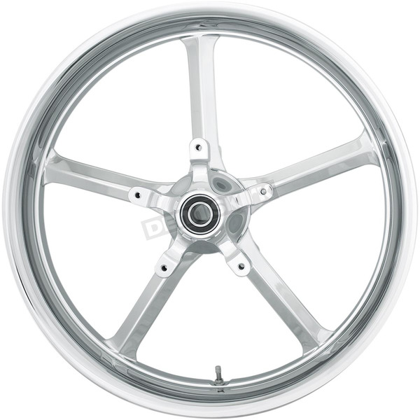 Coastal Moto Chrome 19 in. x 3 in. Rockstar Forged Aluminum Front Wheel for ABS - 2502-ROC-193-CH