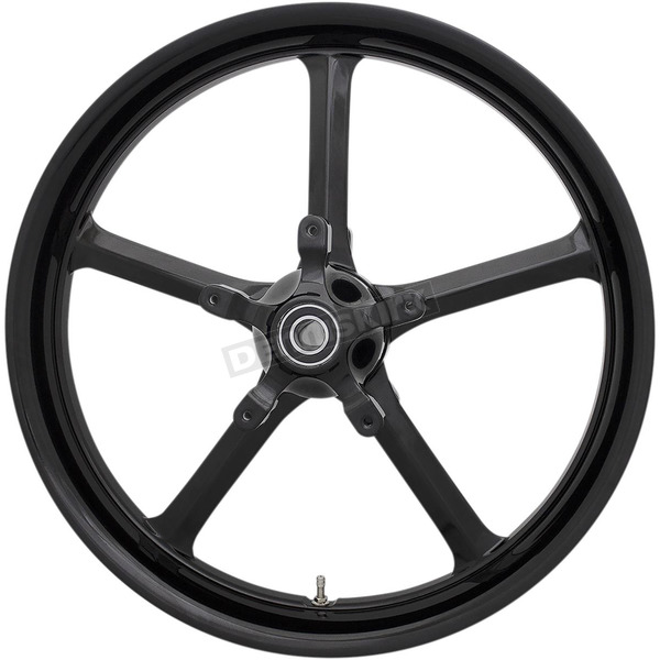 Black 21 in. x 3.25 in. Rockstar Forged Aluminum Front Wheel for Non-ABS - 1502-ROC-213-B