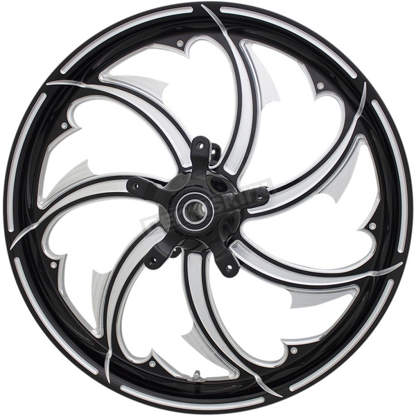 Rear Contrast Cut  18 in. x 5.5 in. Fury Forged Aluminum Wheel for ABS - 4502-FRY-185-BC