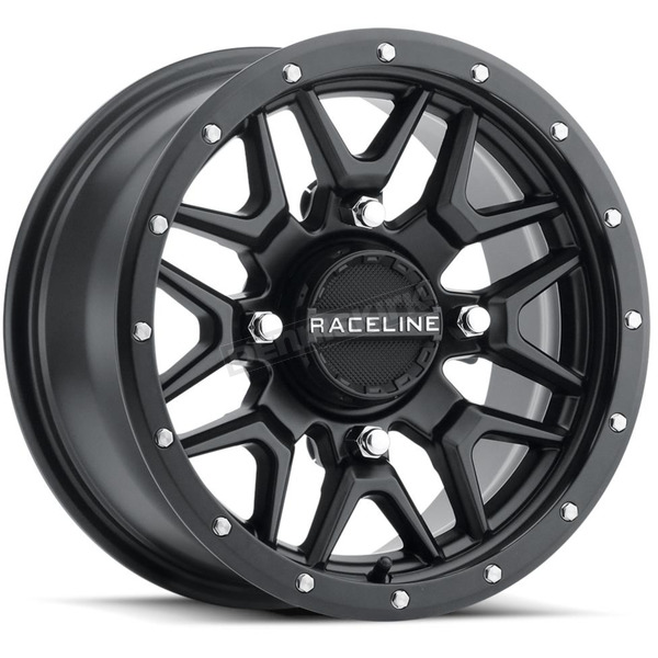 Black Raceline A94 Krank Simulated Beadlock 14x7 Wheel - A94B-47056+38